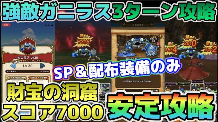 【ドラクエウォーク】強敵ガニラスをSP&配布装備で3ターン撃破!おまけで財宝の洞窟スコア7000安定攻略