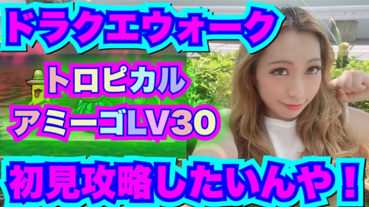 【ドラクエウォーク】トロピカルアミーゴLV30初見攻略!無課金ギャル勇者がいく!